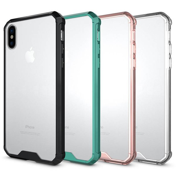 Designer Mobile Phone Cases For IPhone 8 TPU Solid Color Back Cover Scratch Proof Transparent Armor