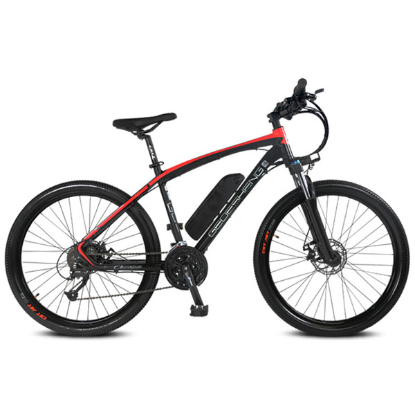 27 Speed 26 Inch Electric Mountain Bike, adopt Aluminum Alloy Frame, Suspension Fork, Disc Brake, E Bike