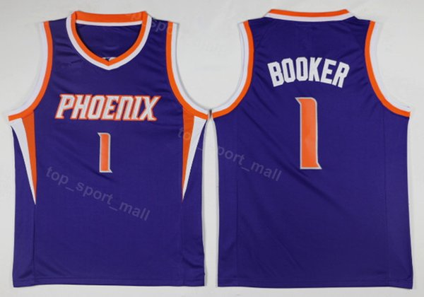 new styles c07ea 73754 2019 Phoenix Men Suns Jersey Basketball 22 DeAndre Ayton 1 Devin Booker 13  Steve Nash 34 Charles Barkley Uniform Black Purple White High Quality From  ...