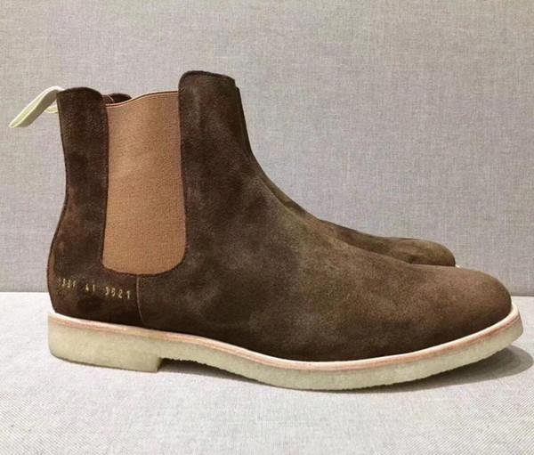 Männer Designer Stiefeletten Gemeinsame Projekte Wildleder Chelse Boot kanye Schuhe Frauen flache Männer Winterstiefel beiläufige Art und Weise im Freien Designerschuh 3U