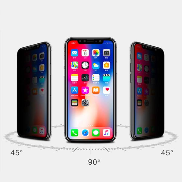 Gizlilik Ekran Koruyucu Için iPhone X XS MAX XR Koruma Filmi Temperli Cam iPhone 6 S 7 8 Artı Anti-Casus Anti-glare Tam Ekran