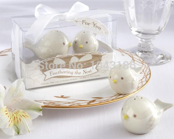 Wedding favor gift and giveaways for guest -- Love Birds Salt and Pepper Shakers door Gifts Wedding Favours 200pcs/lot 20170120#