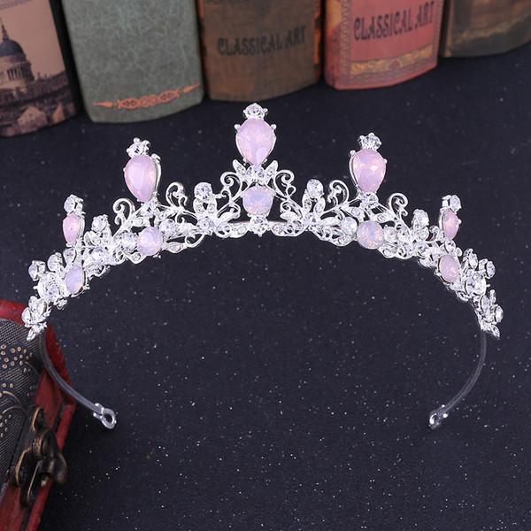 H1181 Europa y los Estados Unidos simple punto de aleación de corona accesorios de perforación de agua accesorios de vestido de boda joyería nupcial al por mayor