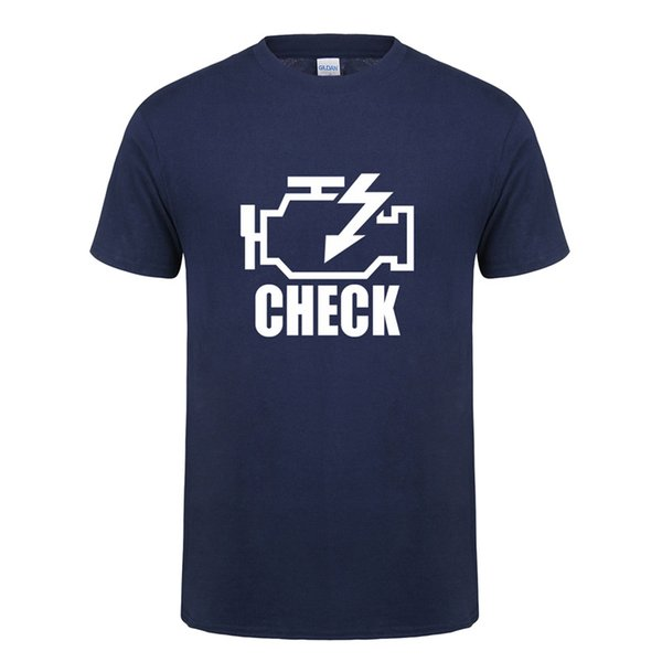 Check Engine Light T Shirts Men T Shirt New Summer Short Sleeve O-Neck Cotton Men Mechanic Auto Repair T-shirt Tops