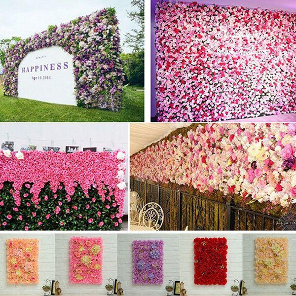40x60 cm Yapay Ipek Gül Çiçek Duvar Dekorasyon Güzel Parti Dekoratif Ipek Ortanca Düğün Dekorasyon Zemin S25 C18112601