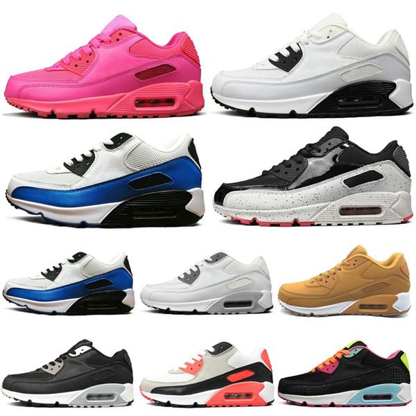 Neu Nike Air Max 90 Frauen Schuhe Blau Weiß Frauen Männer