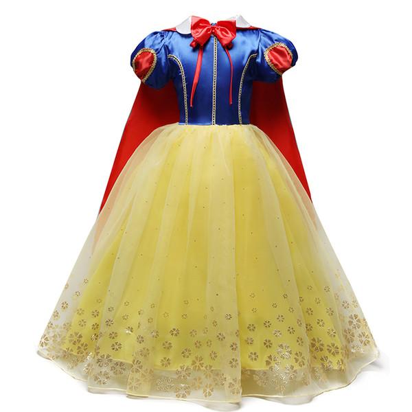 4-10 년 할로윈 할로윈 의상을위한 공상 코스프레 공주 백설 공주 의상 드레스 크리스마스 역할 놀이 아이의 소녀 의상 J190505