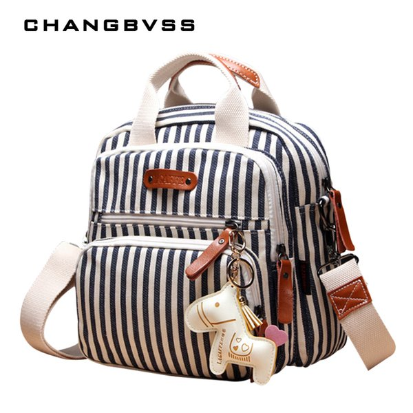 Brand Multifunction Diaper Backpack Mother Care Hobos Bags, Baby Stroller Bags Nappy Bag For Mom With Horse Ornaments Q190528