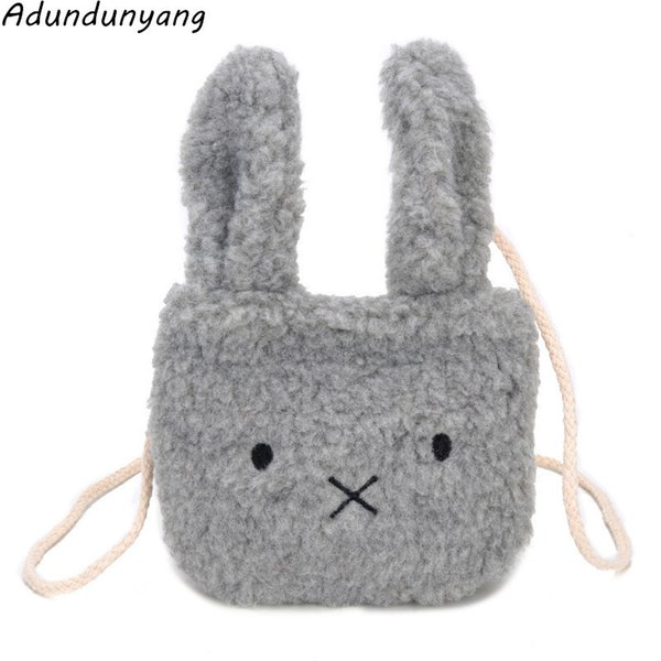 Cheap Wholesale rabbit ears children's shoulder bag package cartoon princess bag fashion plush bag