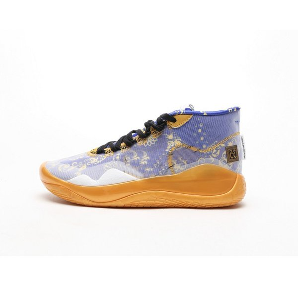Mens What the kd 12 basketball shoes for sale Academy Yellow Floral Purple Cool Grey lebron 17 kevin durant sneakers boots with box size