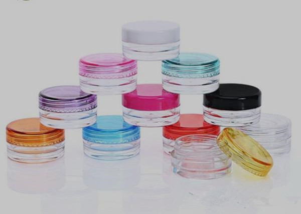 Plastic Wax Containers Jar Box Cases 5ml Capacity Wax Holder container Food Grade Wax Tools Storage For Silicone Pipes Smoking Glass Bongs