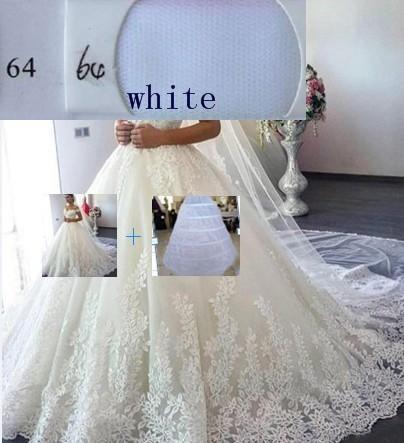 (Weißes) Kleid + Petticoat