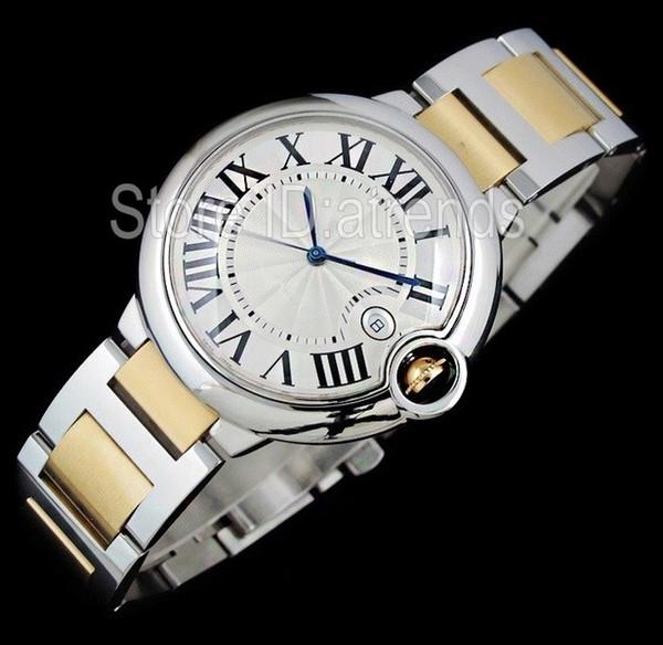 Top Qualität Serie Mode Quarzuhr Männer Frauen Zwei Ton Gold Zifferblatt Klassisches Design Voll Edelstahl Casual Elegante Uhr 5452