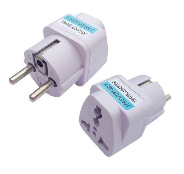 100 Teile / los Universal 2 Pin AC Power Elektrische Stecker Adapter Konverter Reise Ladegerät UK / US / AU Zu EU Stecker Adapter Buchse