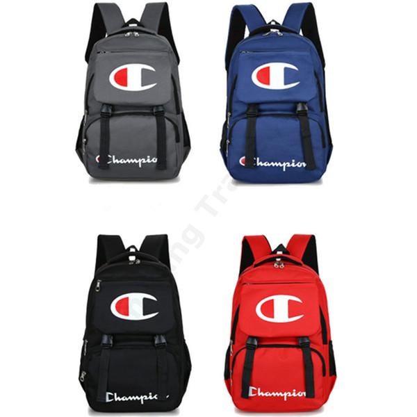 Champions Mochila de moda para mochilas portátiles estilo preppy Kids School bandolera hombres mujeres cremallera bolsas de viaje 44 * 30 * 12 cm 4 Color caliente C3192