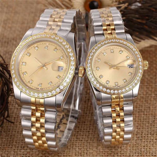 fashion luxury mens women lover watches designer diamond bezel automatic mechanical Wristwatches 316 stainless steel Montre de luxe gift