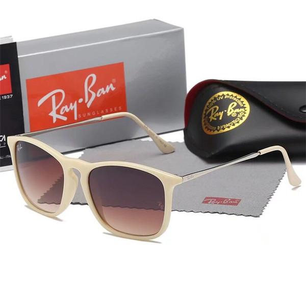 Moda hombre mujer gafas de sol retro cuadrado negro metal plástico gafas de sol unisex UV400 lujo diseñador gafas con logotipo y estuche C-11
