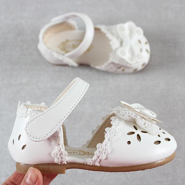 2019 новые летние дети весна осень обувь кожа сладкие детские сандалии для девочек малыша ребенка дышащий Hoolow Out лук обувь