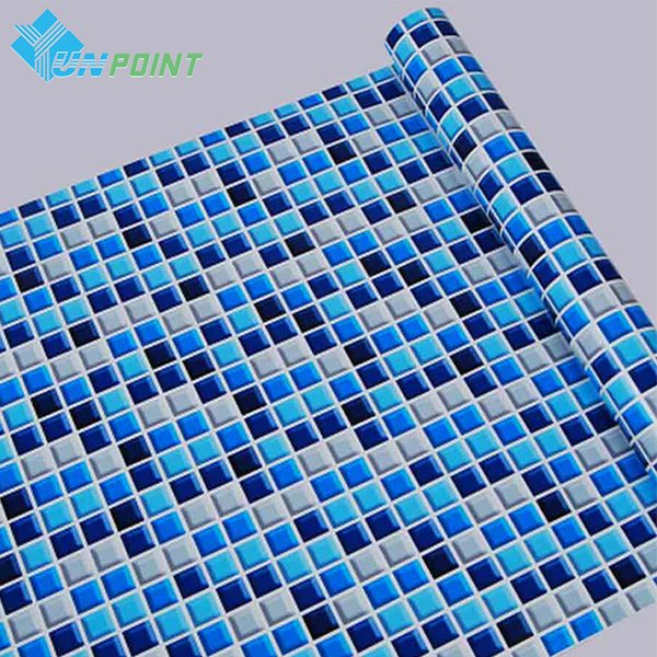 45cmx5m Self Adhesive Mosaic Pvc Vinyl Stickers Waterproof Wallpapers For Bathroom Kitchen Poster Wall Decals Home Decor Q190522