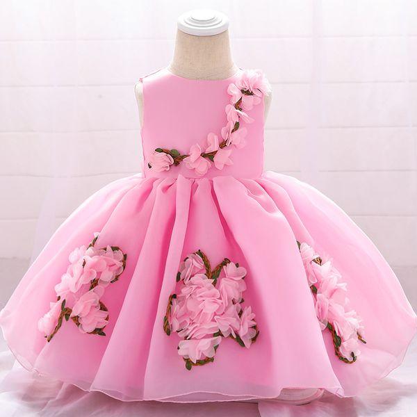 Robes de baptême bébé fille fille princesse robe de bal robe dentelle fille de fleur demoiselle d'honneur pour la noce robes de bal