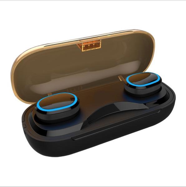 T16 Wireless Bluetooth V5.0 Auriculares estéreo IPX7 impermeable Auriculares Auto emparejamiento Mini auriculares con caso del cargador de empaquetado al por menor