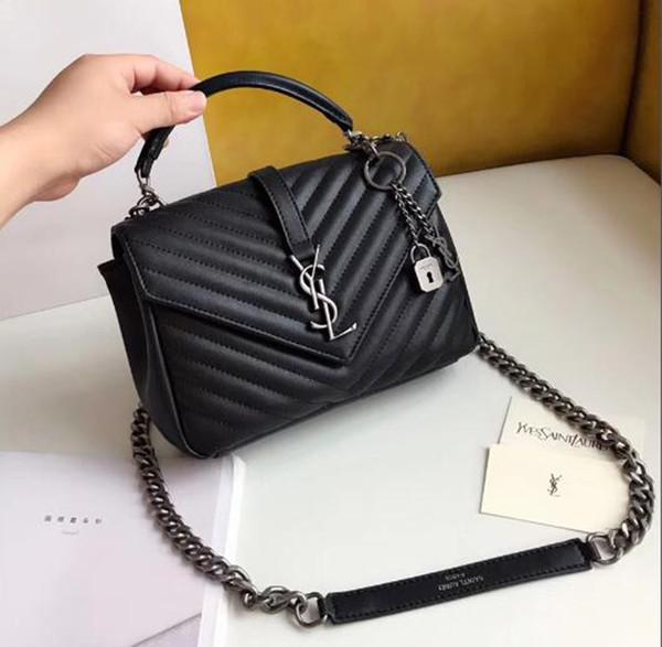 Luxo Clássico Bolsas de Grife de Alta Qualidade Mulheres bolsa de Ombro cores feminina bolsa de embreagem Messenger Bag bolsa com Caixa