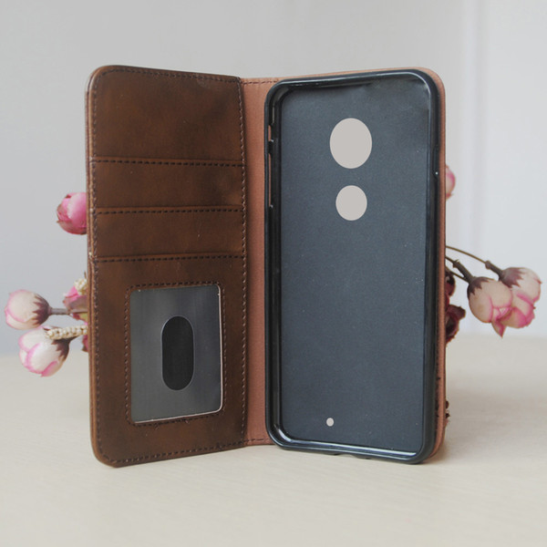 Flip Leather cell Phone Case for Motorola moto G7 Cover Wallet Retro Bible Vintage Book Business Pouch