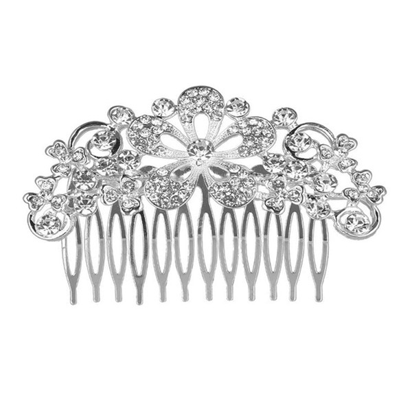 Wedding Party 8x6cm hairpins beaded flower leaf headwear of bride crown diamond headwear for bride acting initiation graduation RS-133