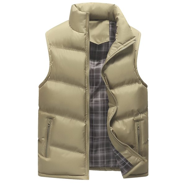 mens winter sleeveless Down jacket Slim Vest Mens Windproof Warm thicken Waistcoat casual jackets coat Plus Size 2018 New