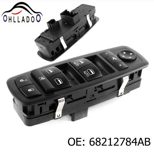 best selling HLLADO High Quality New Front Left Master Power Window Switch 68212784AB For 2013-2016 D odge Ram 1500 2500 3500 Car Accessories
