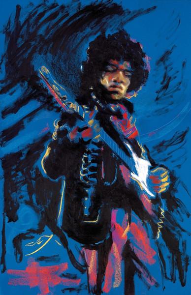 Jimi Hendrix Music Digital Art Silk Print Poster 24x36inch(60x90cm) 018