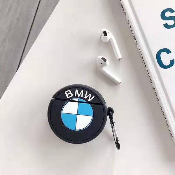Casos airpods protetora moda com cordão marca protetor de fone de ouvido para airponds com logotipo do carro bem conhecido 2 estilos atacado