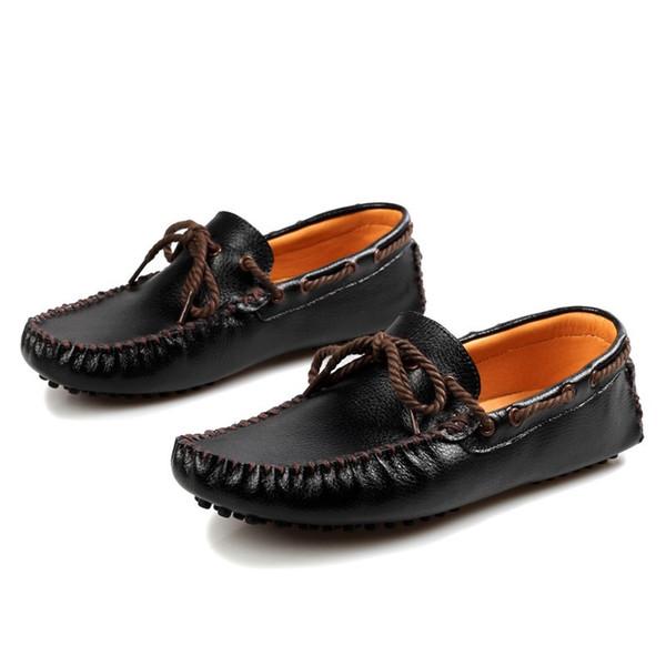 Черный плоский каблук