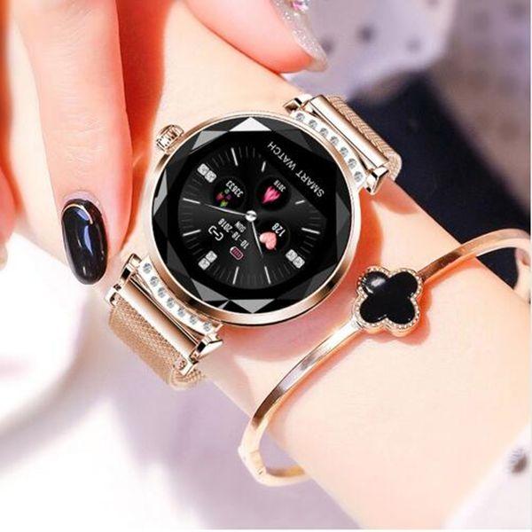 dd0f2fc04396 2019 Nuevo reloj elegante de moda H2 para las mujeres Relojes inteligentes  a prueba de agua