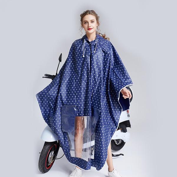 Yuding Electrombile \ Bicicleta Chuva Capes De Plástico Polka Dots capa de Chuva Mulheres \ meninas Manto Feminino Ao Ar Livre Poncho de Chuva Chubasquero # 319429