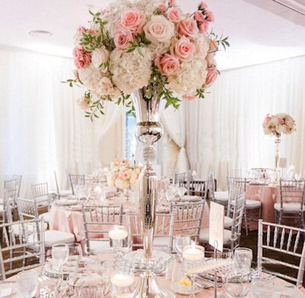 Mariage Vase de fleurs de Grand chemin de l'événement principal du pilier Présentoir Jardinière pour la maison Party Decoration