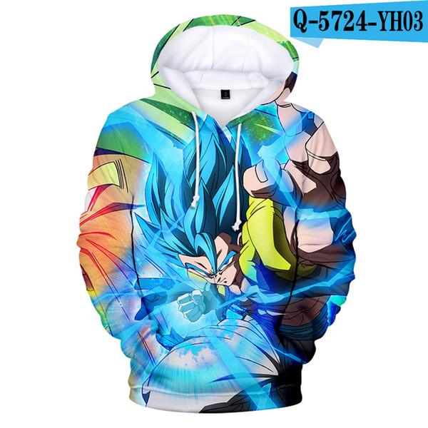Hoodie Super Broly Movie Hooded Jacket Costume Printed Hoodie Men Women Anime Clothes 3D Clothing Harajuku Kid Size