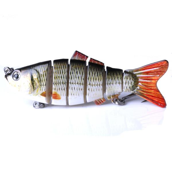 Multi-section Carp Fishing Lures 10cm 18g 3D Eyes Lifelike Fishing Hard Baits Crankbait With 2 Hook Pesca Cebo