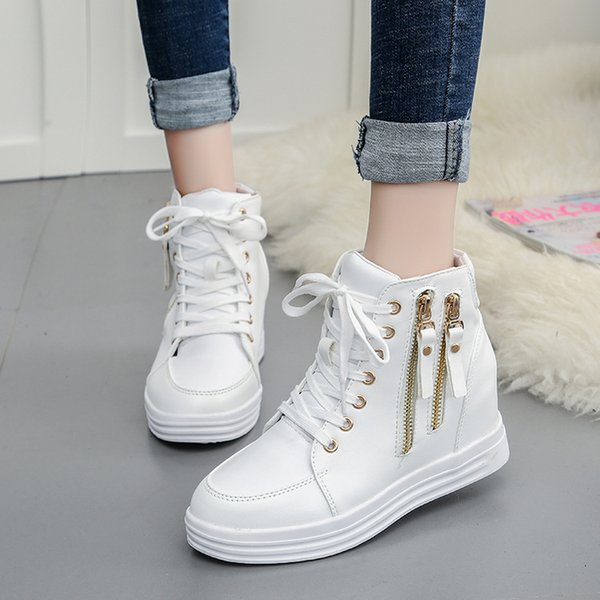 Spring, autumn and winter fashion new female increase Martin boots female Korean version of the waterproof boots women's platform boots