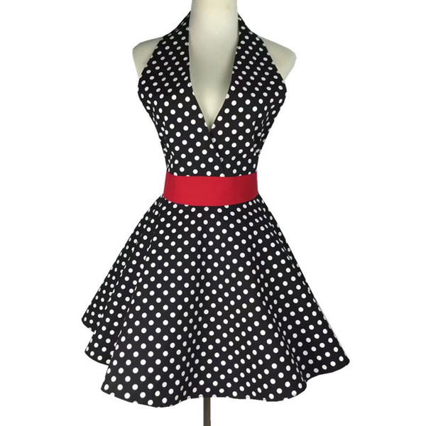 Sexy Retro Apron for The Kitchen Cooking Pinafore Girl Dress Sleeveless Bib Cleaning 100% Cotton Cloth Aprons for Woman Gift