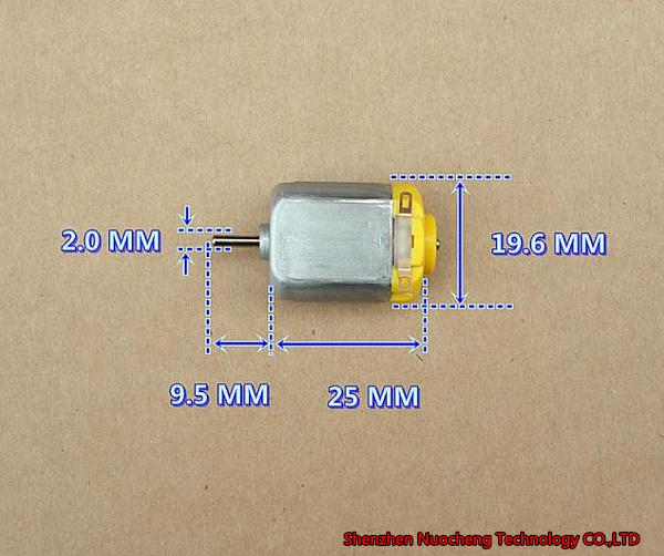 best selling Brand new 12V 65mA 13000RPM 130 Micro DC motor strong magnet low noise metal brush four-wheel drive toy motor~