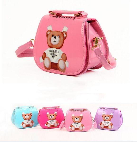retail New Kids Handbag Lovely Girls Mini Purses Shoulder Bags Teenager Girl Princess PU Printed Bags Cute Christmas Gifts For Baby Kids Bag