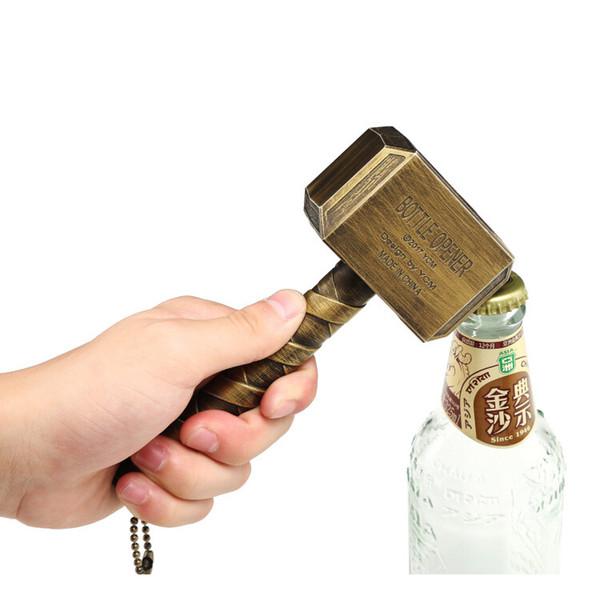 Новинка Тор молоток открывалка для бутылок творческий могучий молот Тора в форме пивной нож бар КТВ гаджет подарки Mjolnir Серебро Бронза
