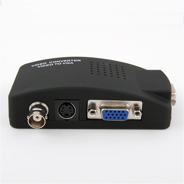 all'ingrosso Convertitore video da BNC a VGA Ingresso S-video per PC VGA Adattatore digitale Switcher Box per PC TV Camera DVD