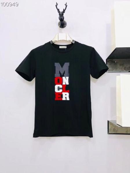 New Summer Style top quality M brand Printed Women Men T shirts tees Hiphop Streetwear Men Cotton Short Sleeve T shirt m-3xl size