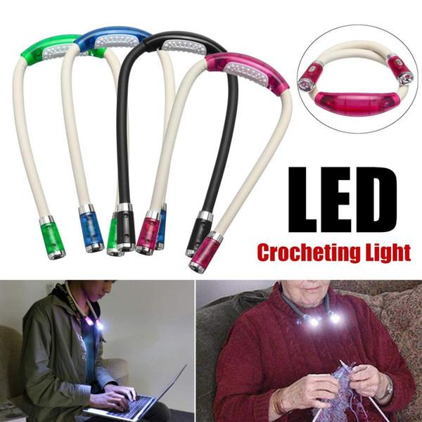 Lámpara Interior Manos Lectura De Funciona LED Iluminación Luz Compre De Crochet Con Lámpara Libres es De Tejer Cuello De Noche De Flexible Punto RAq5jL43