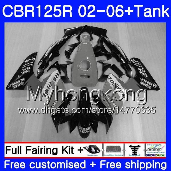 Body +Tank For HONDA Repsol grey CBR-125R CBR125R 2002 2003 2004 2005 2006 272HM.29 CBR 125CC 125 R 125R CBR125RR 02 03 04 05 06 Fairings
