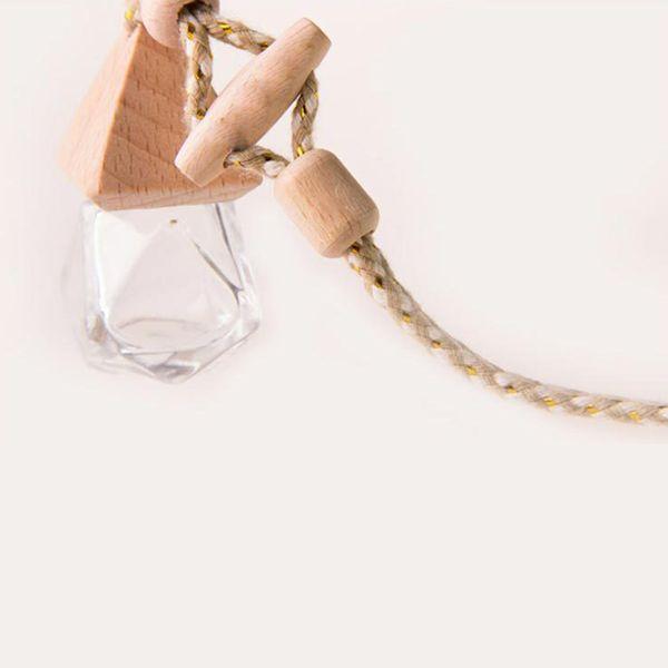 6 ml Diamante botella de perfume cubierta de pirámide para mejorar el aire dentro del coche Fina mano de obra Beautifu coche Ornamento decorativo X5