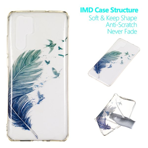 Flower Soft TPU IMD Case For Huawei P30 Pro P Smart 2019 Sony XZ4 Galaxy S10 Plus Lite Skull Bear Dolphin Donut Pineapple Love Luxury Covers