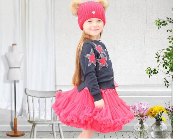 New Baby Girls Tutu Gonna Ballerina Pettiskirt Fluffy Bambini Ballet Gonne per il ballo del partito Principessa ragazza Tulle vestiti